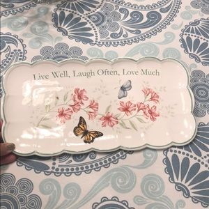 Lenox Butterfly Meadow serving Dish. Pristine
